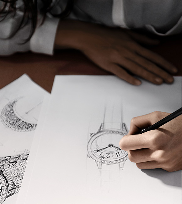 drawing a timepiece