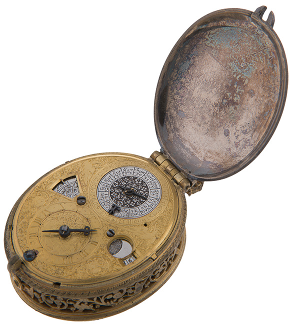 Astronomical oval pocket watch