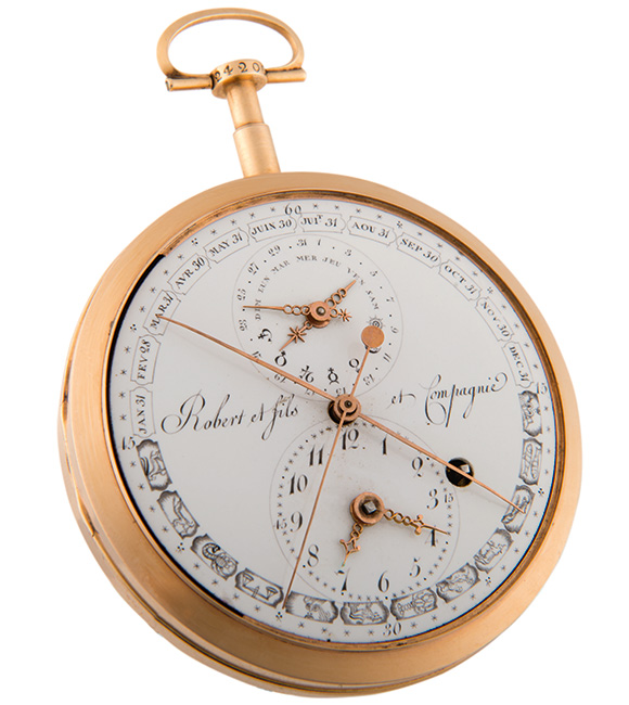 Double face pocket watch